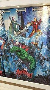 Cortina Infantil Estampada Avengers