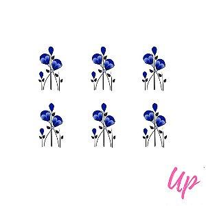 Pelicula de unhas tulipa azul