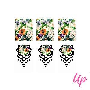 Pelicula de unhas casadinho floral