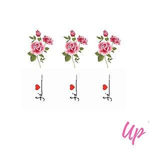 Pelicula de unhas floral com frases