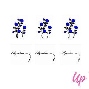 Pelicula de unhas casadinho tulipas com frase