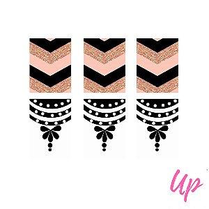 Pelicula de unhas casadinho rosa e preto