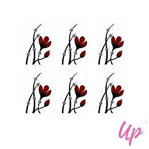 Pelicula de unhas tulipa vinho