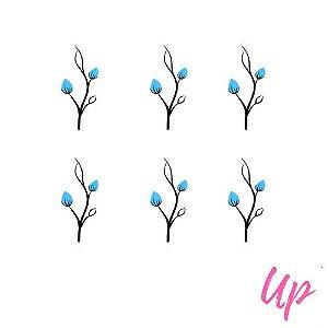 Pelicula de unhas tulipa azulclaro
