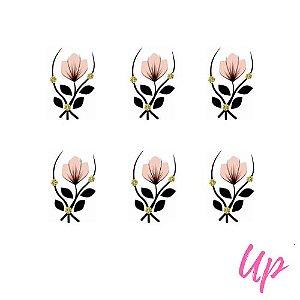 Pelicula de unhas tulipa rosa claro