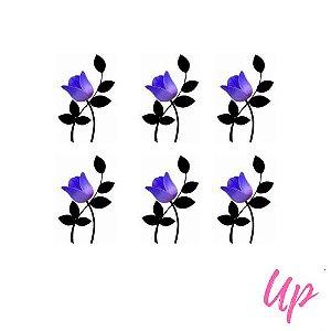 Pelicula de unhas tulipa roxa