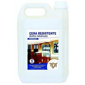 Cera Resistente W&W para Piso de Madeira 5 litros Brilhante ou Acetinada
