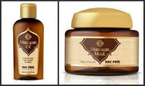 KIT MÁSCARA ARGAN E REPARADOR MARROCAN OIL MACPAUL