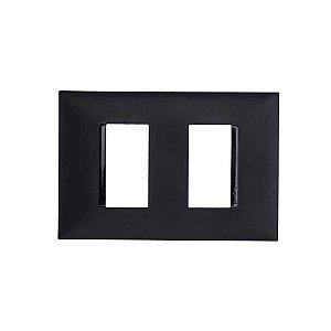 Placa PIAL Plus+ Preta 4X2 (2 Modulos Distanciado) 618506PT