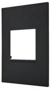 Placa PIAL Plus+ Preta 4X2 (2 Modulos Horizontal) 618502PT