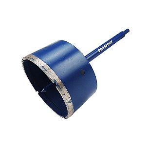 Serra Copo Diamantada c/ Haste BRASFORT 120mm Seco/Agua 7954