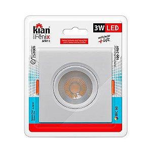 Spot Embutir 3W LED 6000K Quadrado KIAN