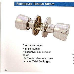 Fechadura Tubular p/ Divisória TF03 Branca GOLD