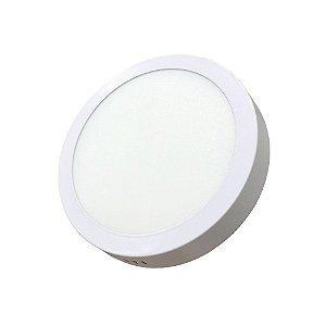 Luminaria Led Plafon PERKON Externo Redondo 12W 3000K 17CM