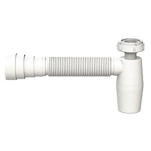 Sifão PVC Copo Flexível VALEPLAST c/ Anel Branco