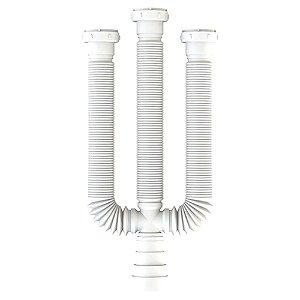 Sifão PVC Flexível VALEPLAST Branco Triplo c/ Anel
