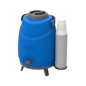 Botijão Térmico 12 litros c/ Torneira SOPRANO Azul