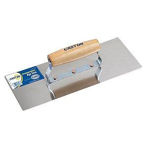 Desempenadeira Aço CASTOR p/ Gesso 12x30cm