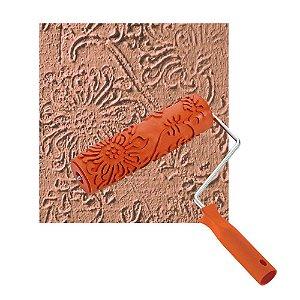 Rolo Textura ROMA Borracha Floral 18cm c/ Cabo 8 0318