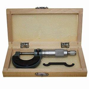 Micrometro Externo 0 A 25mm Com Estojo Leitura De 0,01mm