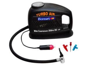 Mini Compressor de AR Turbo Air 120 W - 12 V FERRARI-MCTA12