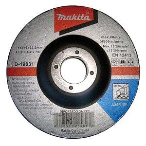 Disco de desbaste Ferro 4.1/2x1/4x2tx7/8 Makita