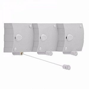 Varal Automático com 3 cordonetes reguláveis Maxeb 4,8mt