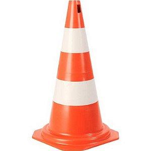 Cone de sinalização Polipropileno Laranja e Branco 50cm