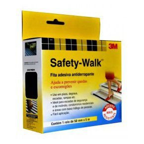 Fita Antiderrapante Cinza 50mm x 5m Safety-Walk 3M