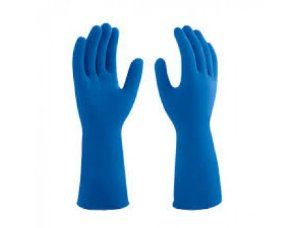 Luva latex Azul Lisa Tamanho P (par) - Mucambo