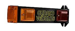 Sinalizador Led Garagem Biv. 110/220V Techna Preto