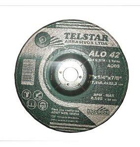Disco de desbaste Ferro 7x1/4x2tx7/8 Telstar