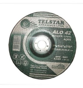 Disco Desbaste Ferro 7x1/4x2tx7/8 Telstar