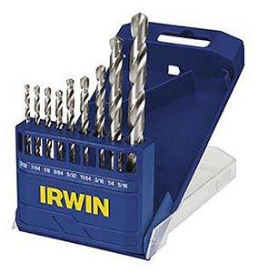 Brocas para Metal 2 a 8mm Jogo com 9 Peças Irwin