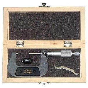 Micrometro Externo 25 A 50 Mm X 0,01 mm Com Estojo Ferpil