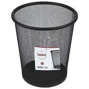 Cesto De Lixo Basket Aço 11 Litros Preto - Lixeira Mor