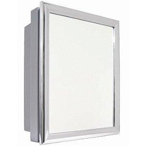 Armário p/ banheiro 31x36x10cm perfil alumínio Astra AL41