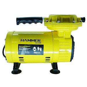 Compressor de Ar Direto Hammer Bivolt 1/3 HP 2,3pcm - CD-2500