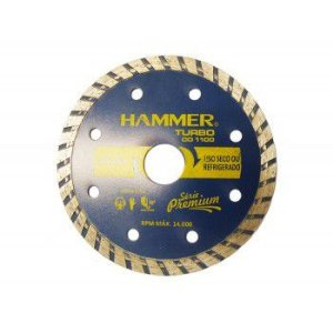 Disco Diamantado Hammer 110mm Turbo Seco Serie 1100