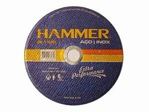 50pç Disco Corte Inox Hammer 4.1/2 X 1,0mm