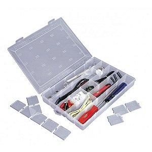 Caixa Organizadora Plástico Transparente Divisória Remov. SB121