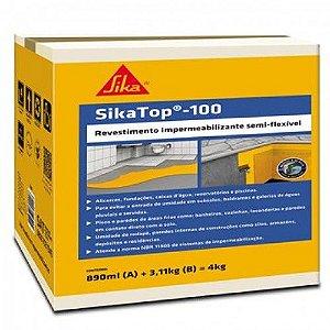 Impermeabilizante SikaTop 100 Cinza (Caixa 4KG)
