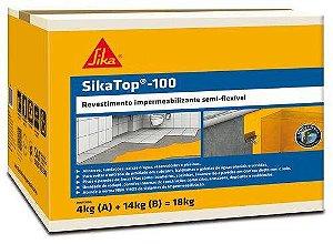 Impermeabilizante SikaTop 100 Cinza (Caixa 18KG)