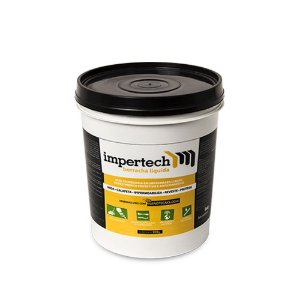 Borracha Líquida Impermeabilizante 3,6kg Preta Impertech