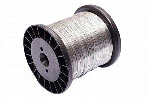 Arame Cerca Elétrica Aço Inox 0,45mm Bobina 350mt