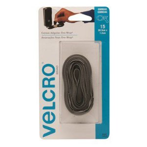 Abraçadeira Autofix. Velcro 20,3cmx1,2cm One Wrap 15 Peças Cinza