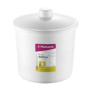 Lixeira De Banheiro Plástico 6l C/tampa Branco Ou Preto Primafer
