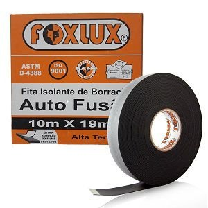 Fita Isolante Auto Fusão 10m X 19mm Foxlux