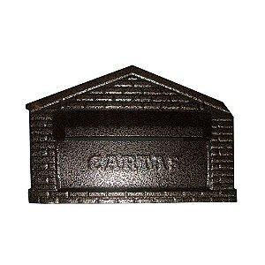 Caixa Carta Metal Cartas Casinha Emb. Gradil