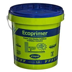 Primer para Manta Asfáltica Ecoprimer Galão 3,6 Litros Viapol